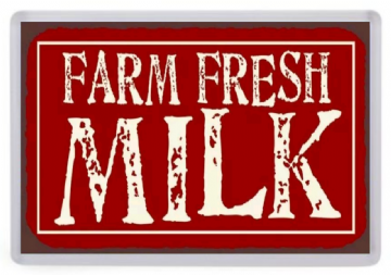 Farm Fresh Milk Fridge Magnet
